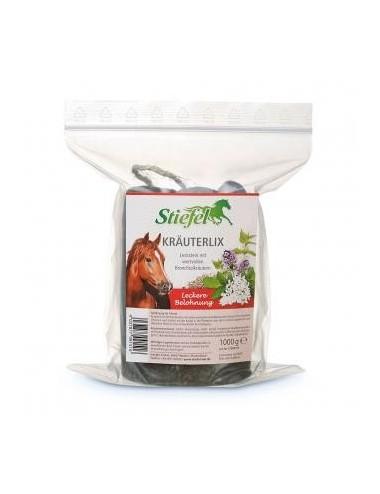 Stiefel Kräuterlix- Kräuterleckstein für Pferde als kräuterreiche Belohnung