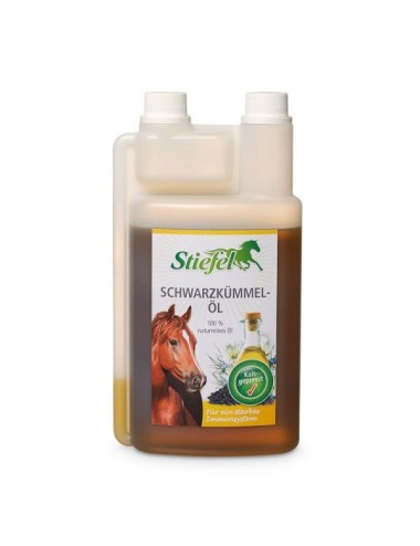 Stiefel Schwarzkümmelöl- Natürliches, bekömmliches Pflanzenöl für Pferde