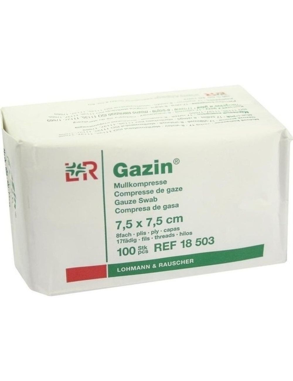 OP-Mullkompressen Gazin® 8-fach gelegt
