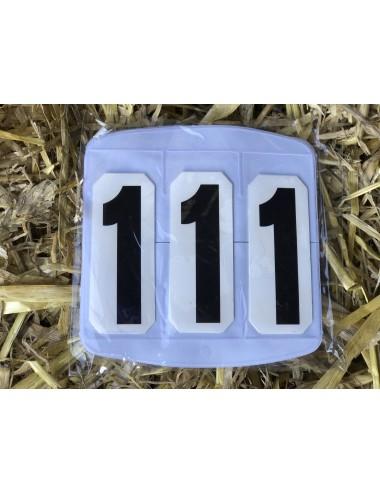 Falt-Kopfnummern mit Klettverschluss