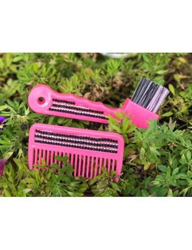 Mähnenkamm Glitzer pink
