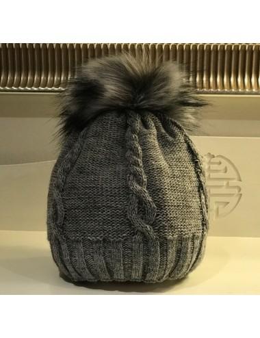 """graue Wollmütze """"Amira"""""""