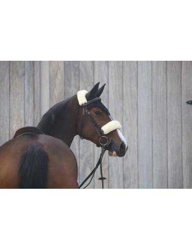 Kentucky Nasenriemen-Abdeckung mit Schaffell
