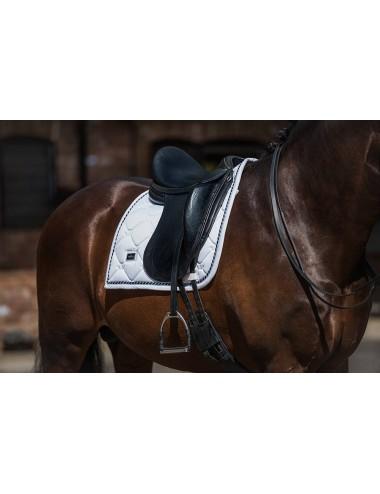 Equestrian Stockholm Dressurschabracke weiss perfection navy