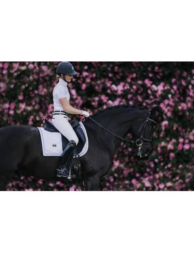 Equestrian Stockholm Dressurschabracke white silver