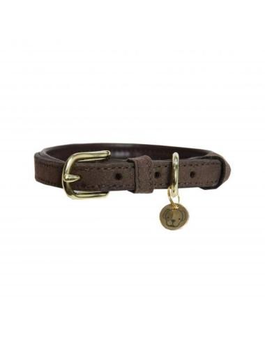 Kentucky Dog Collar Leather Velvet