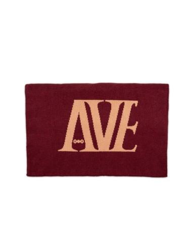 AVE Equestrian Zweifarbiger Schal mit AVE und AVEandme aus Baumwolle