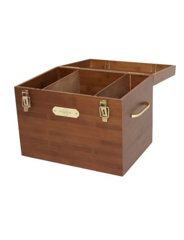 Grooming Deluxe Putzkoffer Tack Box braun