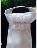 NiEl Plastron Modell white Classic mit sieben Chrystal Swarowski Steinen