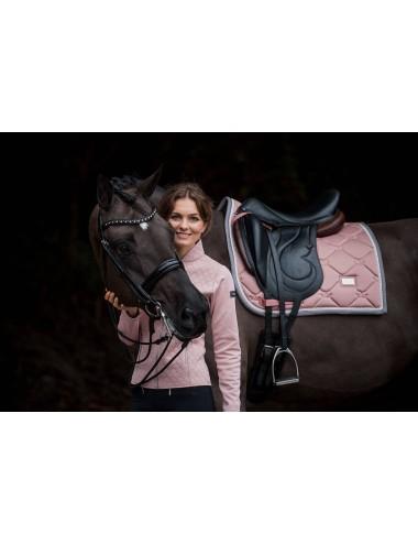 Equestrian Stockholm Fleecebandagen 4-er Set pink